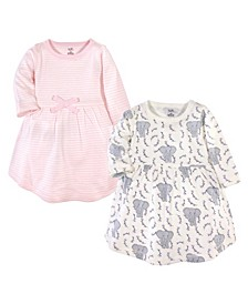 Baby Girl Long Sleeve Organic Dress 2 Pack