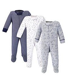 Baby Boy Organic Sleep and Play 3 Pack