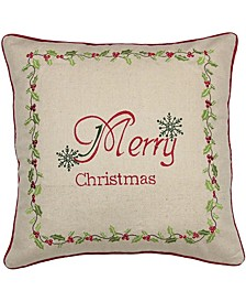 "Happy Holiday Pillow Collection, 18"" x 8"""