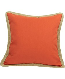 """Classic Jute Solid Color Pillow Collection, 20"""" x 20"""""""