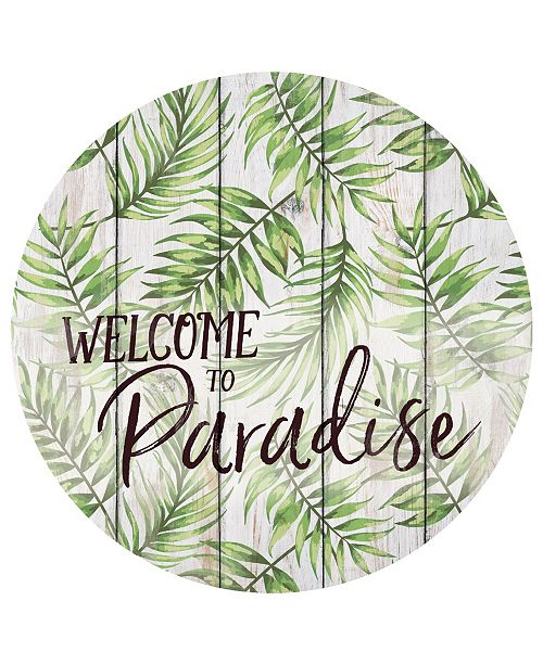 P Graham Dunn Welcome To Paradise Wall Art