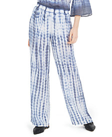BCX Juniors' Pull-On Tie-Dyed Pants