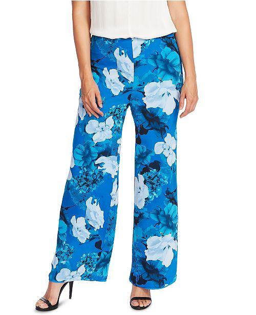 Vince Camuto Watercolor Melody Floral-Print Pants