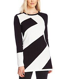 Diagonal Colorblocked Sweater