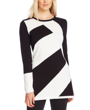 Vince Camuto Sweaters DIAGONAL COLORBLOCKED SWEATER
