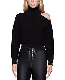 Cold-Shoulder Turtleneck Sweater
