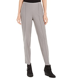 Pintuck-Front Ankle Pants