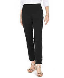 Petite Tummy-Control Snap-Hem Pants, Created for Macy's