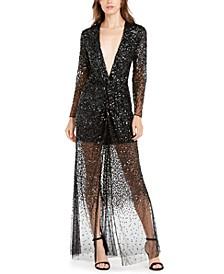 Emille Deep-V Sequined Dress