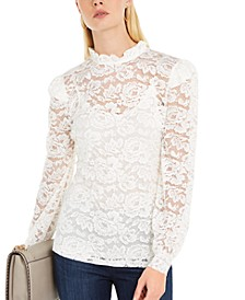 INC Lace Blouson Top, Created For Macy's