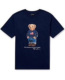 Big Boys Sweater Bear Cotton Jersey T-Shirt, Created For Macy's