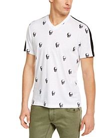 INC Men's Skull Graphic V-Neck T-Shirt, Created for Macy's