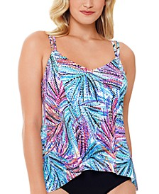 Palmalicious Printed Princess-Seam Tankini Top, Created For Macy's