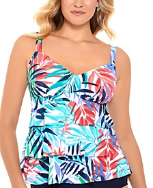 Palm Springs Printed Tiered  Tankini Top, Created for Macy's