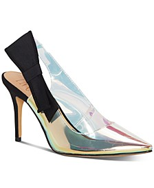 INC Women's Coletta Slingback Pointed Toe Pumps, Created for Macy's