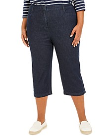 Plus Size Denim Capri Pants, Created For Macy's