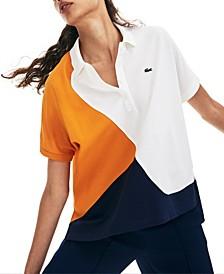 Short-Sleeve Colorblocked Polo Shirt