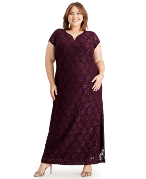 Indian Summers Inspired Clothing Connected Plus Size Sequined Lace Gown $80.99 AT vintagedancer.com