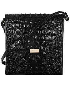 Black Melbourne Embossed Leather Kimmie Crossbody