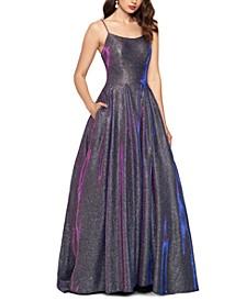 Galaxy Glitter Ball Gown