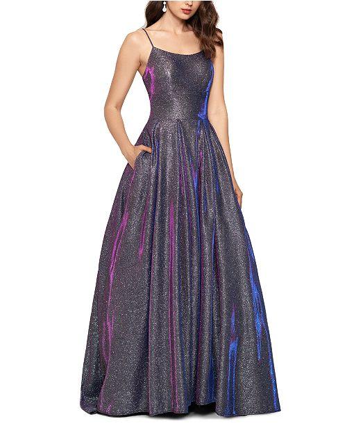 Betsy & Adam Galaxy Glitter Ball Gown