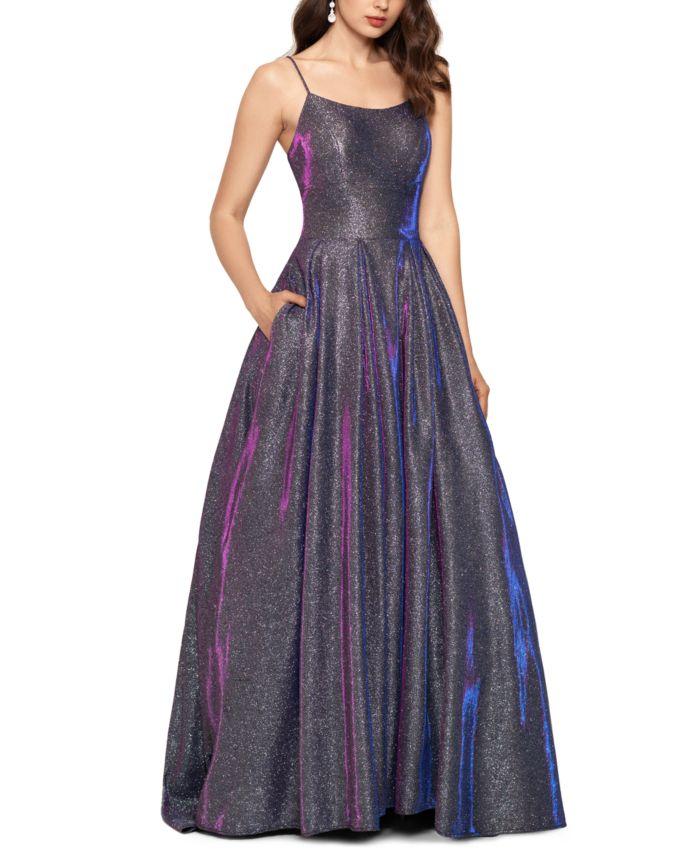 Betsy & Adam Galaxy Glitter Ball Gown & Reviews - Dresses - Women - Macy's