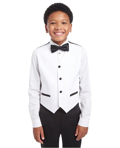 Calvin Klein Big Boys Classic-Fit White Sateen Vest