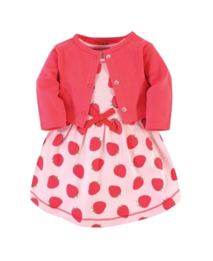 Touched by Nature dress and cardigan set is the cutest year-around outfit for your little girl. Both dress and cardigan are made from super soft organic cotton. Dress is short-sleeved to keep cool while cardigan offers long sleeves and snap closure for cooler nights.