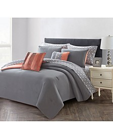Solid 7 Piece Bed In A Bag Set, Twin