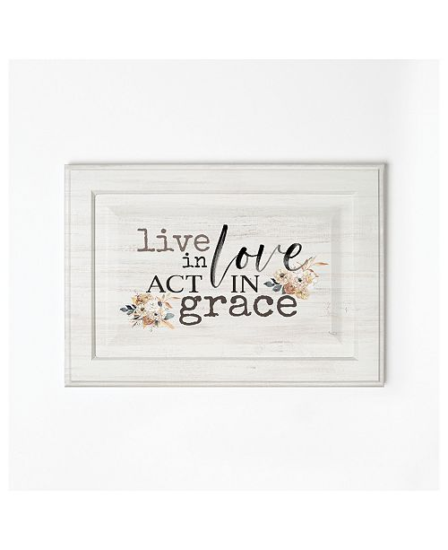 P Graham Dunn Live In Love Act In Grace Wall Art