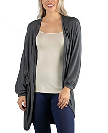 Circle Shape Long Sleeve Women Cardigan