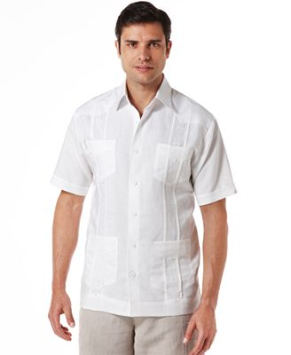 Cubavera Men S And Tall Embroidered Panel 4 Pocket Guayabera Shirt