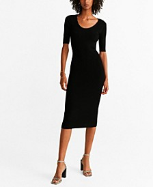 Tailored Ribbed Dress
