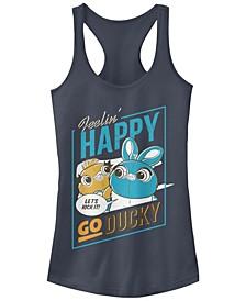 Disney Pixar Juniors' Toy Story 4 Happy Go Ducky Ideal Racerback Tank Top