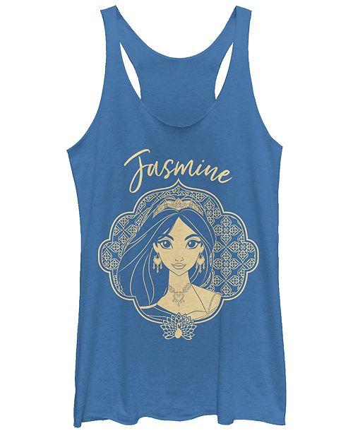 Disney Juniors' Aladdin Jasmine Portrait Sketch Tri-Blend Tank Top