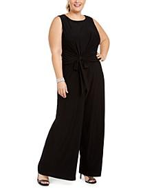 Plus Size Tie-Front Jumpsuit
