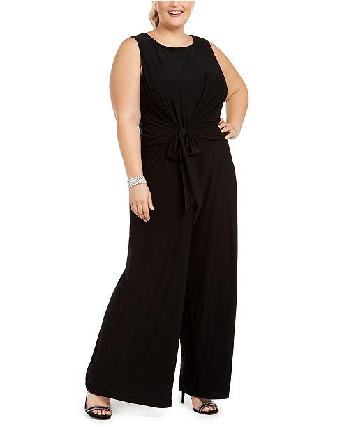 MSK Plus Size Tie-Front Jumpsuit