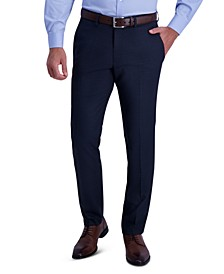 Men's Slim-Fit Stretch Check Dress Pants