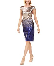 Sequined Ombré Dress, Created For Macy's