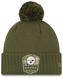 Women's Pittsburgh Steelers On-Field Salute To Service Pom Knit Hat