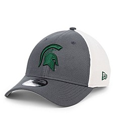 Michigan State Spartans Gray White Diamond Era 39THIRTY Stretch Fitted Cap
