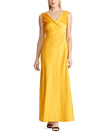 Sleeveless Satin Evening Gown, Created For Macy's