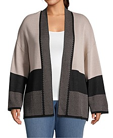 Plus Size Colorblocked Cardigan