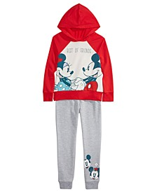 Little Girls 2-Pc. Best Friends Hoodie Shirt & Jogger Pants Set