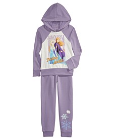 Little Girls 2-Pc. Frozen Destiny Hoodie & Jogger Pants Set