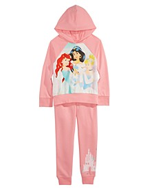 Little Girls 2-Pc. Princess Squad Hoodie Shirt & Jogger Pants Set