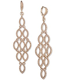 Pavé Openwork Chandelier Earrings