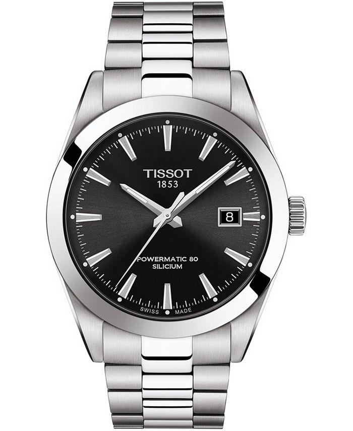 Tissot - Men's Swiss Automatic T-Classic Gentleman Powermatic 80 Silicium Stainless Steel Bracelet Watch 40mm