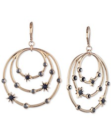 Gold-Tone Pavé & Star Orbital Drop Earrings