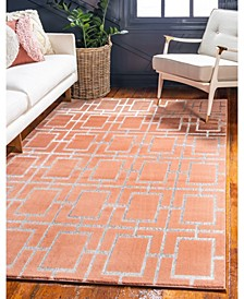 Glam Mmg002 Coral/Silver 5' x 8' Area Rug